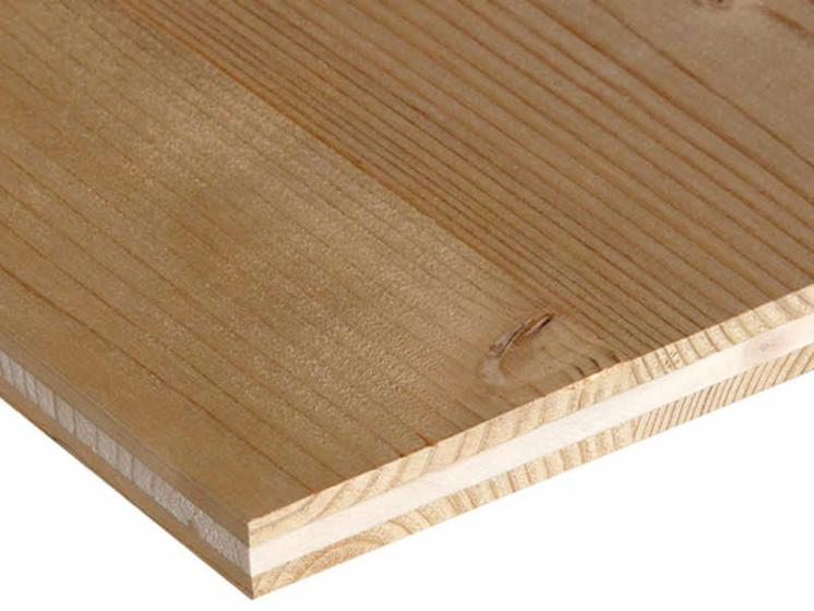 Larch/Pine/Spruce 3 Ply Solid Wood Panels, 16;19;22;27;32;40;42;50;60 mm  thick - Larch/Pine/Spruce 3 Ply Solid Wood Panels, 16;19;22;27;32;40;42;50