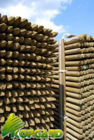 Ronde palissade houten palissades rond - Tuteur bois brico depot ...