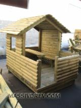 Wood Houses - Precut Timber Framing Pine Pinus Sylvestris - Redwood For Sale - Children playhouse