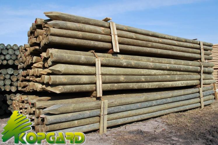 Maderas tratadas tutores postes torneados postes de - Postes de madera ...