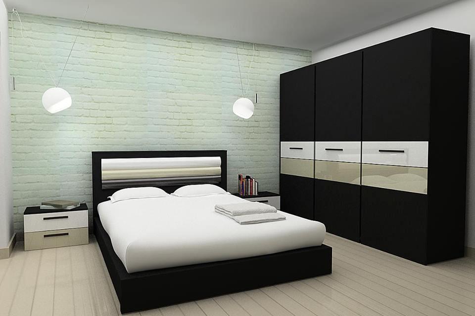 Ensemble pour chambre coucher contemporain 1 0 10000 for Chambre a coucher ensemble