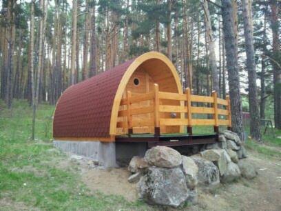 Caba as de madera m viles tipo refugio para camping y - Refugios de madera prefabricados ...