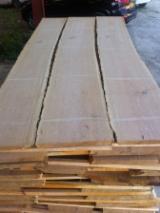 Hardwood  Unedged Timber - Flitches - Boules - White Oak Unedged Boards