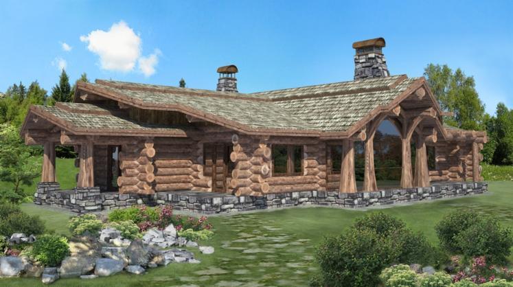 casa di tronchi canadese sitka