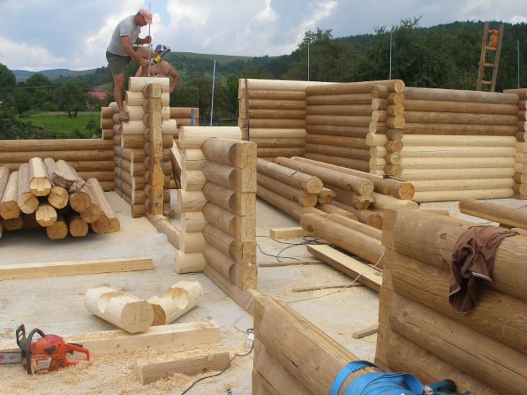 Cabane din lemn rotund for Case de lemn rotund