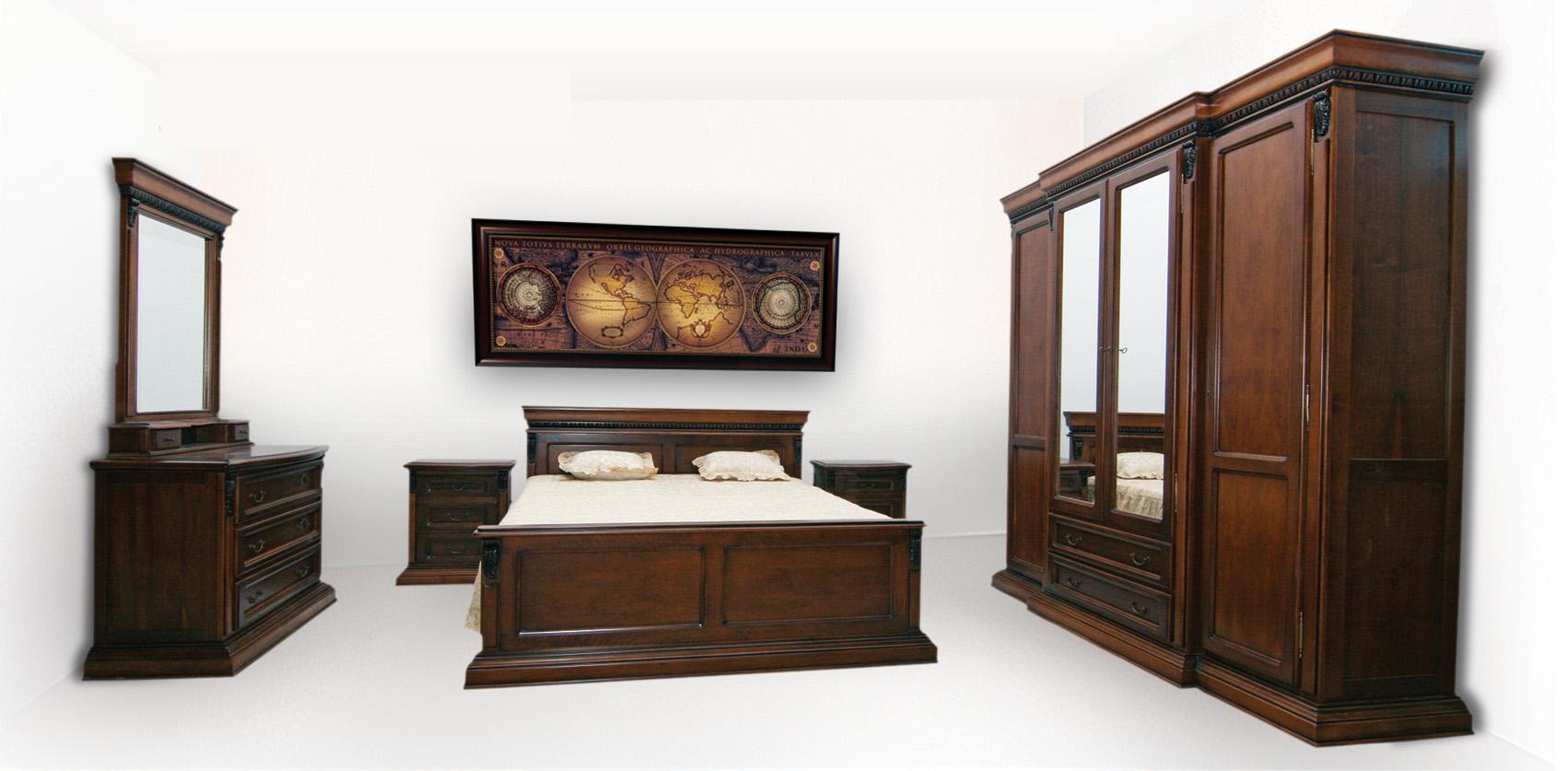 Ensemble pour chambre coucher traditionnel 1 0 100 0 for Chambre a coucher ensemble