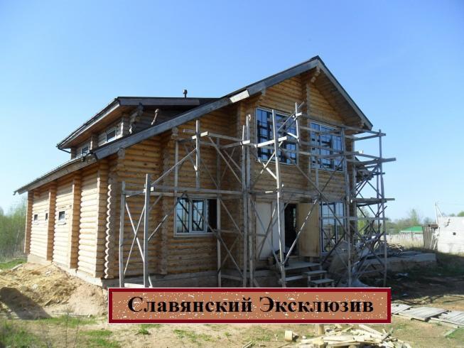 La production la construction et l 39 exportation des maisons en bois - Construction en rondins empiles ...