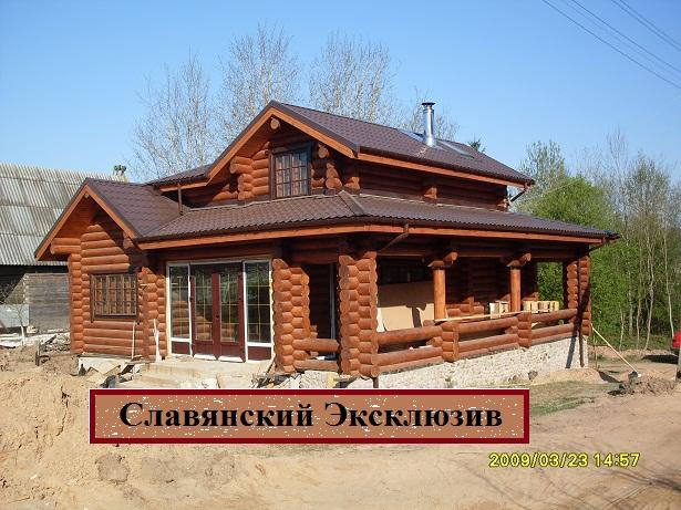 Production and export of wooden houses for Square log home