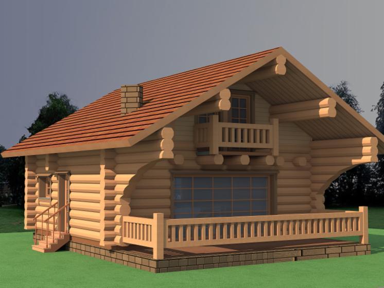 Casa di tronchi canadese abete legni bianchi for Case di tronchi di blocchi di legno