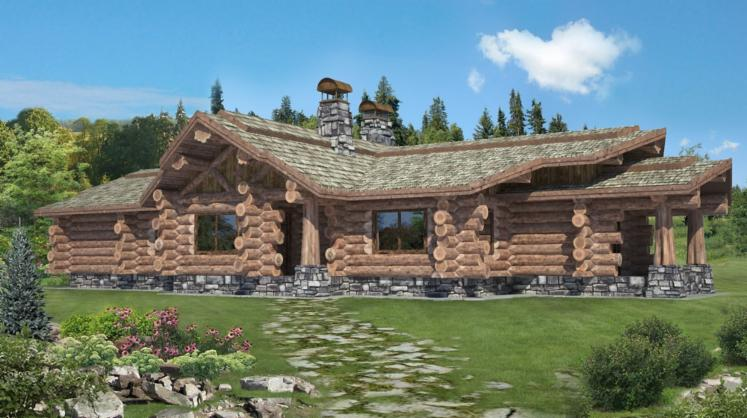 . Canadian Log House  Spruce