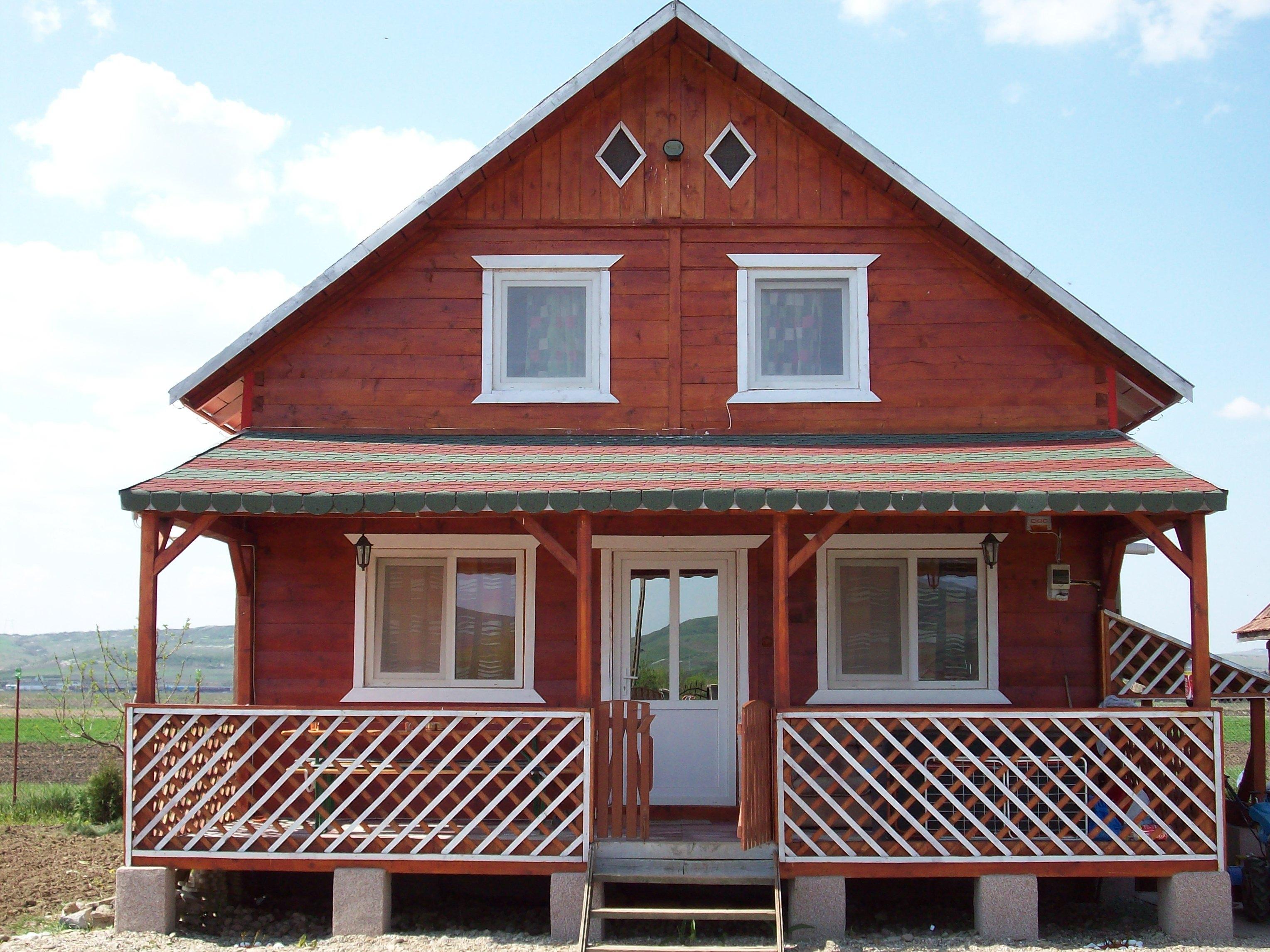 木头房子简单图片