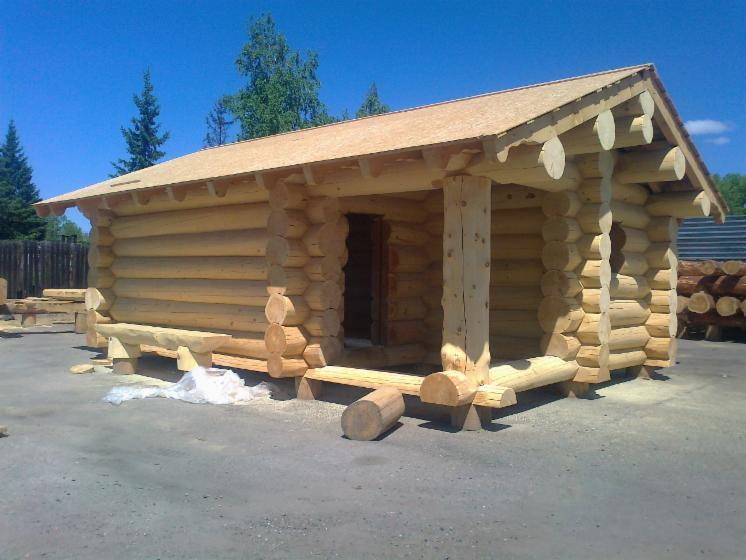 casa di tronchi canadese larice
