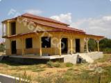 Drvena Kuća - Polugotove Drvene Grede Za Prodaju - Kuća Sa Drvenom Konstrukcijom, Jela -Bjelo Drvo