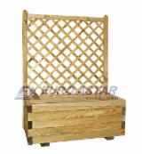 Buy Or Sell Wood Flower Pot - Planter - Planter with trellis