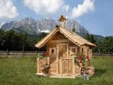 Square Milled Log House Wooden Houses - Wooden Houses White Fir (Abies concolor) 20.0 m2 (sqm) from Romania