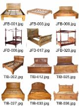 Teak bedroom furniture Indonesia solid wood furniture bed