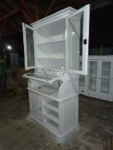 White Living Room Furniture - Mahogany Display Cabinets, ISO 9000 Certified