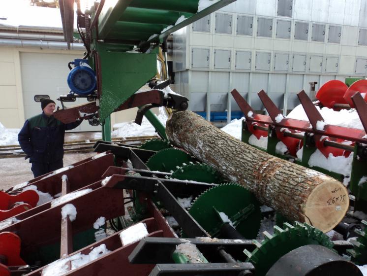 Log Debarking Machine Fost KR-6, Capacity 100m3/8h,