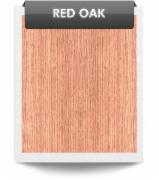 Sliced Veneer - Natural Veneer, RED OAK, Flat cut, plain