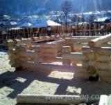 Casă Din Lemn Rotund - Construim Case din Lemn Masiv , Bustean necalibrat.