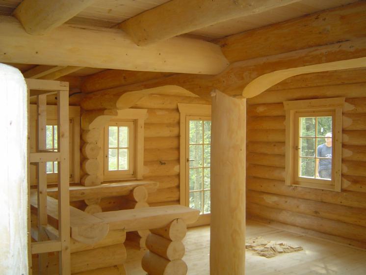 Fuste maisons en rondins empil s epic a picea abies - Maison en rondin de bois prix ...