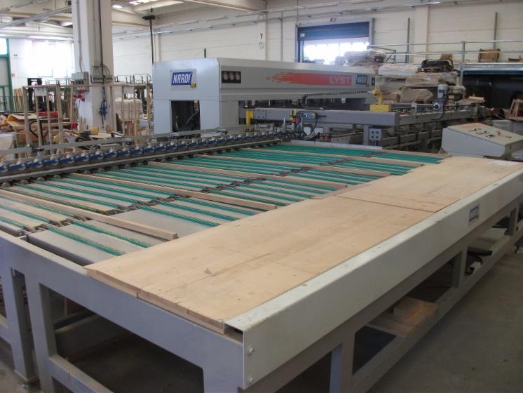 Pressa usata per pannelli listellari massiccio 4000x1300 for Pressa usata per officina