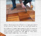 Terrassenholz - Iroko , Rutschfester Belag (1 Seite)
