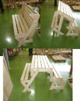 Natural Wood Garden Furniture - Fir Wood Picnic Bench.