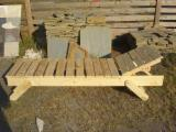 Romania Garden Furniture - Traditional Fir (Abies Alba) Finisat Garden Loungers Buzau Romania
