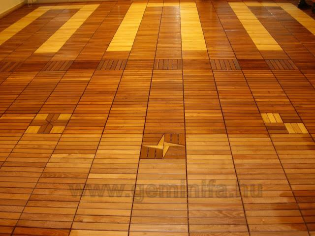 INTERLOCKING  WOODEN  DECK  TILE  FOR  EXTERIOR  AND  INTERIOR  FLOORS
