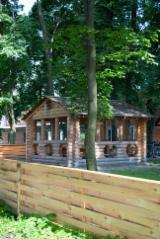 Wood Houses - Precut Timber Framing Pine Pinus Sylvestris - Redwood For Sale - Wooden log arbor