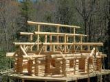 Дерев'яні Будинки - Канадський Зроблений З Колод Будинок, Модрина , Сибірська Модрина, Сибірська Сосна