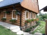 Holzkomponenten, Hobelware, Türen & Fenster, Häuser - Naturstammhaus, Sibirische Tanne