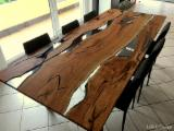 Furniture and Garden Products - Wood & Epoxy Resin Table, Design Style, CE