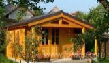 Drvena Kuća - Polugotove Drvene Grede Za Prodaju - Šupa - Baraka, Jela -Bjelo Drvo