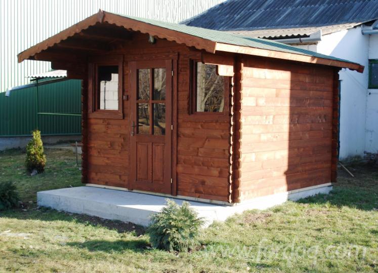 Cobertizos caba as abeto madera blanca madera blanda for Oferta cabanas de madera