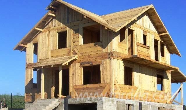 Maison bois poteaux poutres sapin abies alba pectinata for Maison poteaux poutres