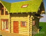 Wood Houses - Precut Timber Framing For Sale - Canadian Log House, Spruce (Picea abies) - Whitewood