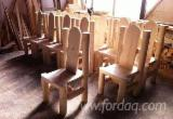 Contract Furniture For Sale - Traditional Spruce (Picea Abies) Restaurant Terrace Chairs Romania