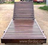 Şezlonguri De Grădină - Sezlong pentru plaja din lemn masiv masiv fag/brad