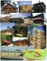 null - Vend Maison Bois : Madrier Empilés Sapin De Vancouver  Résineux Européens