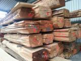 Laubholz  Blockware, Unbesäumtes Holz Deutschland - Gute Eichen Möbelware 52 mm für Treppenstufen odere Tischplatten