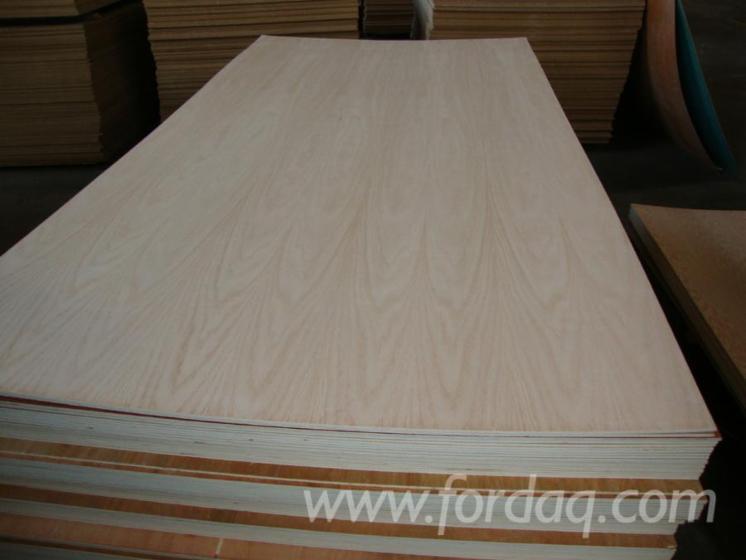 Natural-Plywood--Okoume--meranti--red-oak--beech--birch-ash