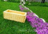 Wholesale Wood Flower Pot - Planter - Fir  Flower Pot - Planter from Romania