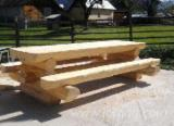 Traditional Garden Furniture - Traditional Fir (Abies Alba) Garden Tables Brasov Romania