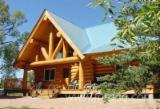 Drvena Kuća - Polugotove Drvene Grede Za Prodaju - Brvnara (Kuća Od Naslaganih Stabala), Jela -Bjelo Drvo