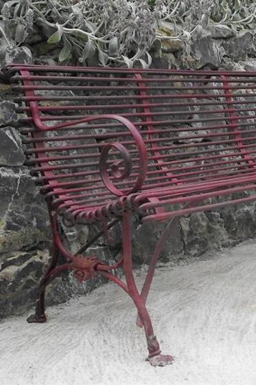 Iron Antique Garden Bench