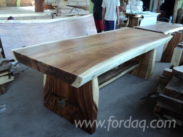 Dinning table suar wood for Fabriquer une table murale rabattable