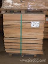 Hardwood  Sawn Timber - Lumber - Planed Timber - Beech strips and planks. Grade 'A/B' (80/20)–for furniture or parquet