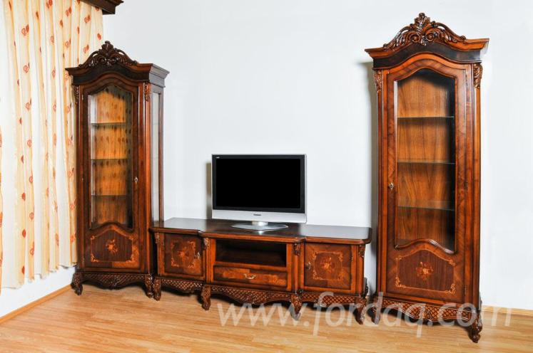 Home Cinema Traditional Sycamore Maple Entertainment centers